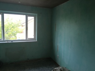 Walls green with pre grit