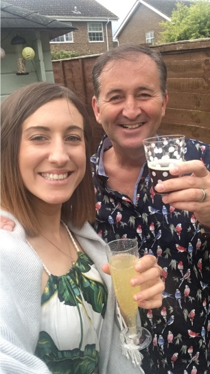 Drinking fake bellinis with my dad