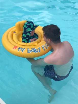 Float time with Daddy